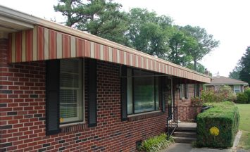 residential cloth awnings 9- etheredge awning and iron works, decatur al